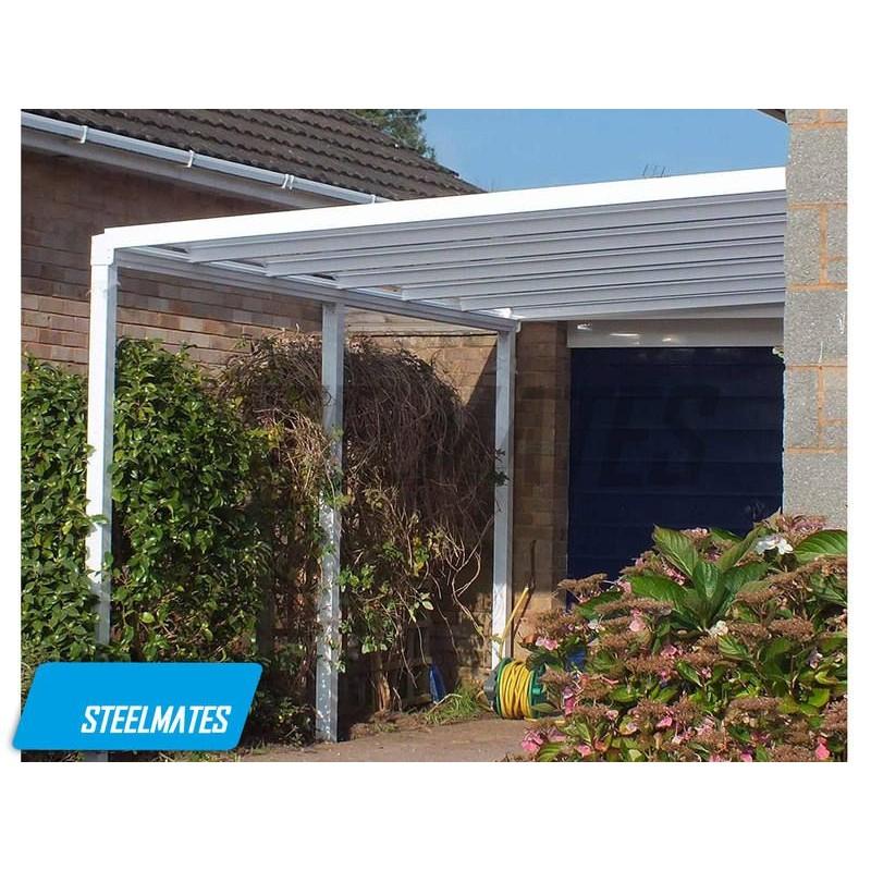 sc 1 st  Steelmates & Aluminium Canopy Patio cover Carport Lean To Pergola 14x10