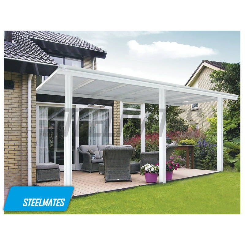 aluminium canopy patio cover carport lean to pergola 14x10. Black Bedroom Furniture Sets. Home Design Ideas