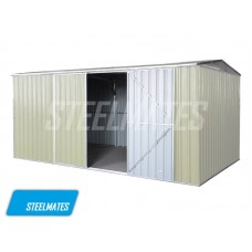 4.2m x 2.6m Garden Shed The Ranch Beige (New Design 2000mm Tall Side Wall)