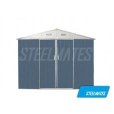 2.6m x 1.7m Garden Shed Gable Roof with Slide Door | Steelmates