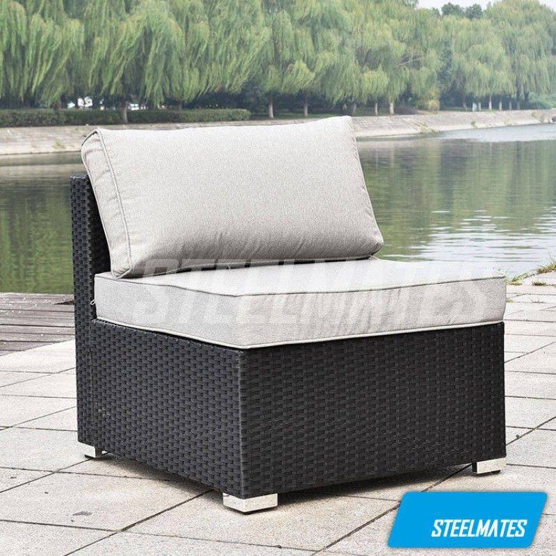 Cairns 7 Seater Outdoor Sofa Modular 8 Piece Set Rattan