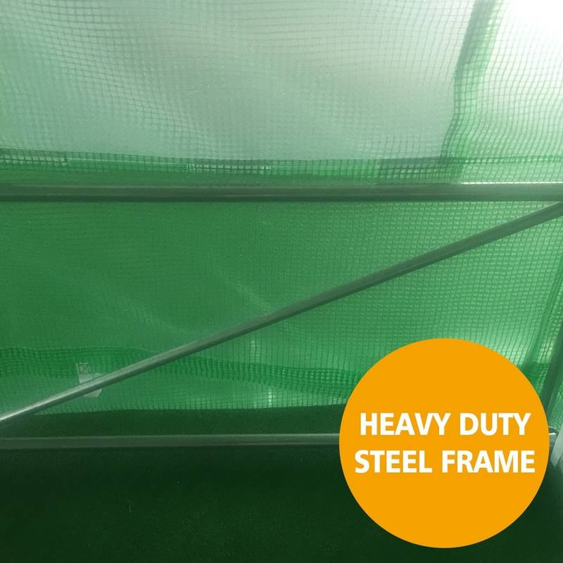 6m x 3m x 2m Strong Tunnel Greenhouses Galvanised Frame | Steelmates