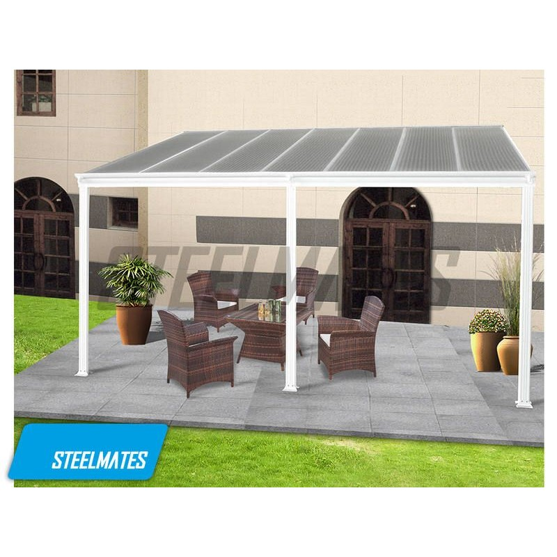 sc 1 st  Steelmates & 20x10 Aluminium Canopy Patio cover Carport Lean To Pergola