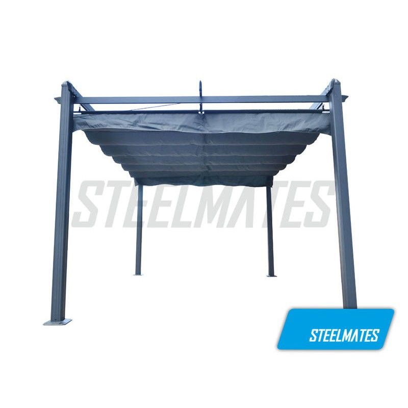 3m X 3m Pergola With Retractable Canopy Free Standing